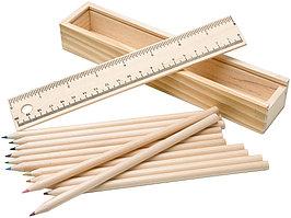 Набор из 12 карандашей в подарочной коробке с линейкой (артикул 10616700)