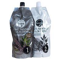 Крем-краска для волос натуральный коричневая от Bosnic Treatment Color Cream Brown , 500 мл+500мл