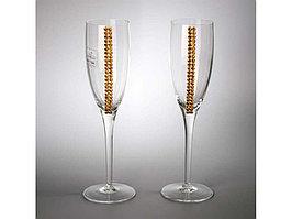 Бокалы для шампанского с кристаллами Swarovski Chinelli (артикул 65670)