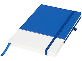 Блокнот А5 двухцветный, синий/белый (артикул 10722901)