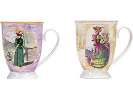 Набор: две кружки и чайное ситечко в коробке Дамы высшего общества (артикул 875908)