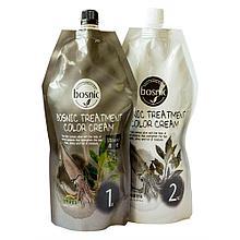 Крем-краска для волос  черная от Bosnic Treatment Color Cream Black , 500 мл+500мл