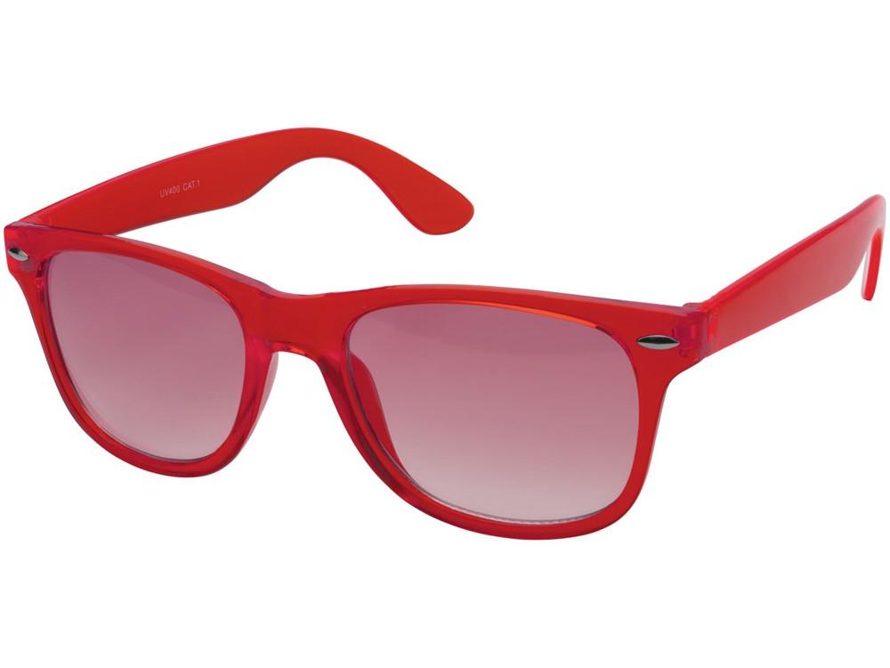 Очки солнцезащитные Sun Ray с прозрачными линзами, красный (артикул 10041402)