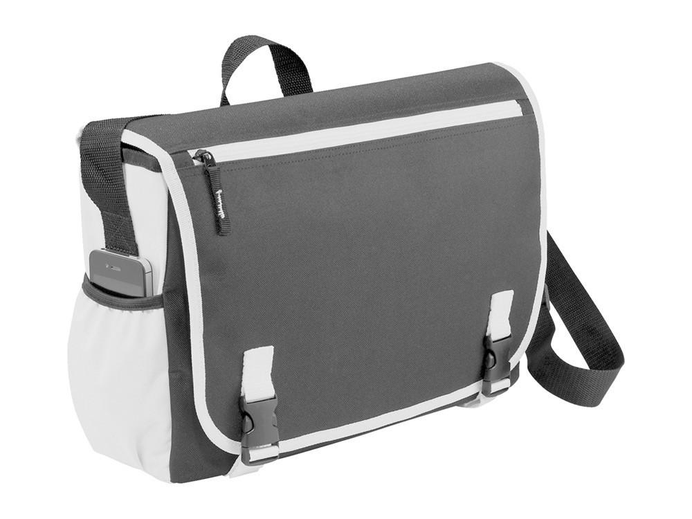 Сумка Punch для ноутбука 15,6, серый/белый (артикул 12017602)