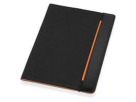 Папка для документов Делос, черный/оранжевый (артикул 923918)