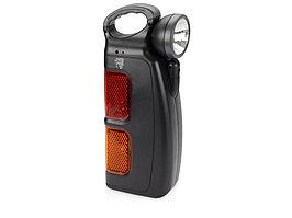 Набор инструментов автомобилиста с фонарем, 14 предметов, черный (артикул 496600)