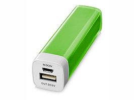 Портативное зарядное устройство Flash 2200 мА/ч, лайм (артикул 12357103)