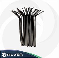 Трубочки с изгибом, ЧЕРНЫЕ, d-5мм (Тонкие) 1000 шт в упак