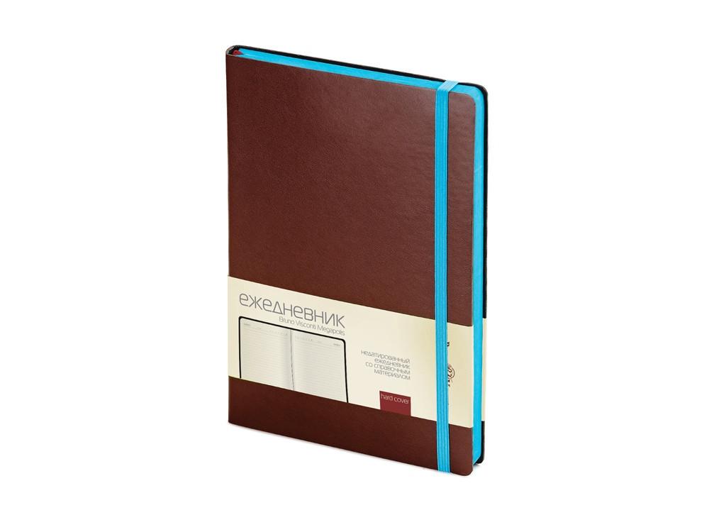 Ежедневник А5 недатированный Megapolis Soft, коричневый (артикул 3-470.06)