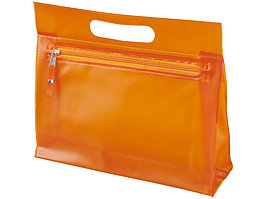 Прозрачная косметичка Paulo, оранжевый (артикул 10248604)