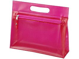 Прозрачная косметичка Paulo, розовый (артикул 10248605)
