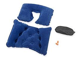 Набор для путешествий с комфортом: повязка на глаза для спокойного сна в дороге, подушка для спины, подушка