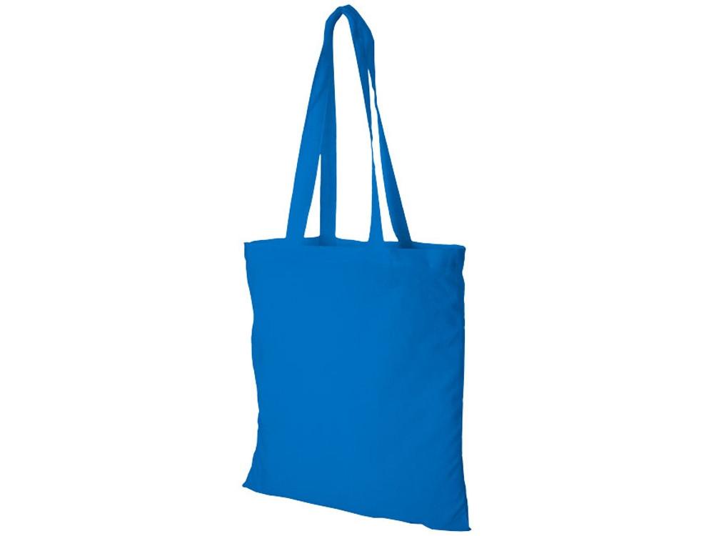 Хлопковая сумка Madras, светло-синий (артикул 12018109)