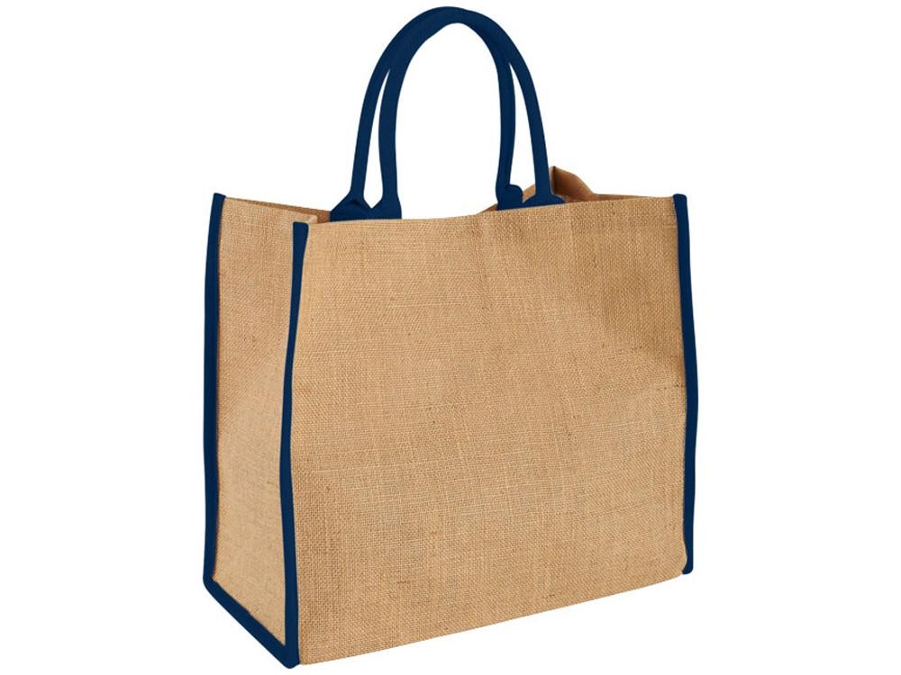 Сумка для покупок, натуральный/темно-синий (артикул 12018202)