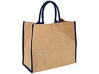 Сумка для покупок, натуральный/темно-синий (артикул 12018202), фото 1