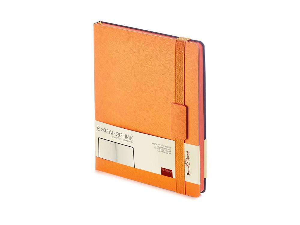 Ежедневник В5 недатированный Leggenda, оранжевый (артикул 3-514.04)