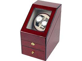 Шкатулка для часов с автоподзаводом Давос, красное дерево (артикул 836701)