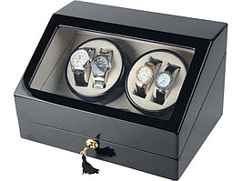 Шкатулка для часов с автоподзаводом Люцерн, черный (артикул 836737)
