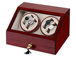 Шкатулка для часов с автоподзаводом Цюрих, красное дерево (артикул 836711)