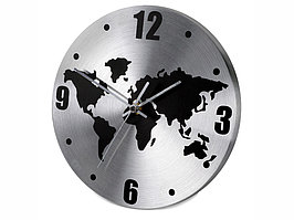Часы настенные Торрокс, серебристый/черный (артикул 436003.15)