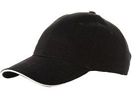 Бейсболка Challenge 6-ти панельная, черный/натуральный (артикул 19548851)