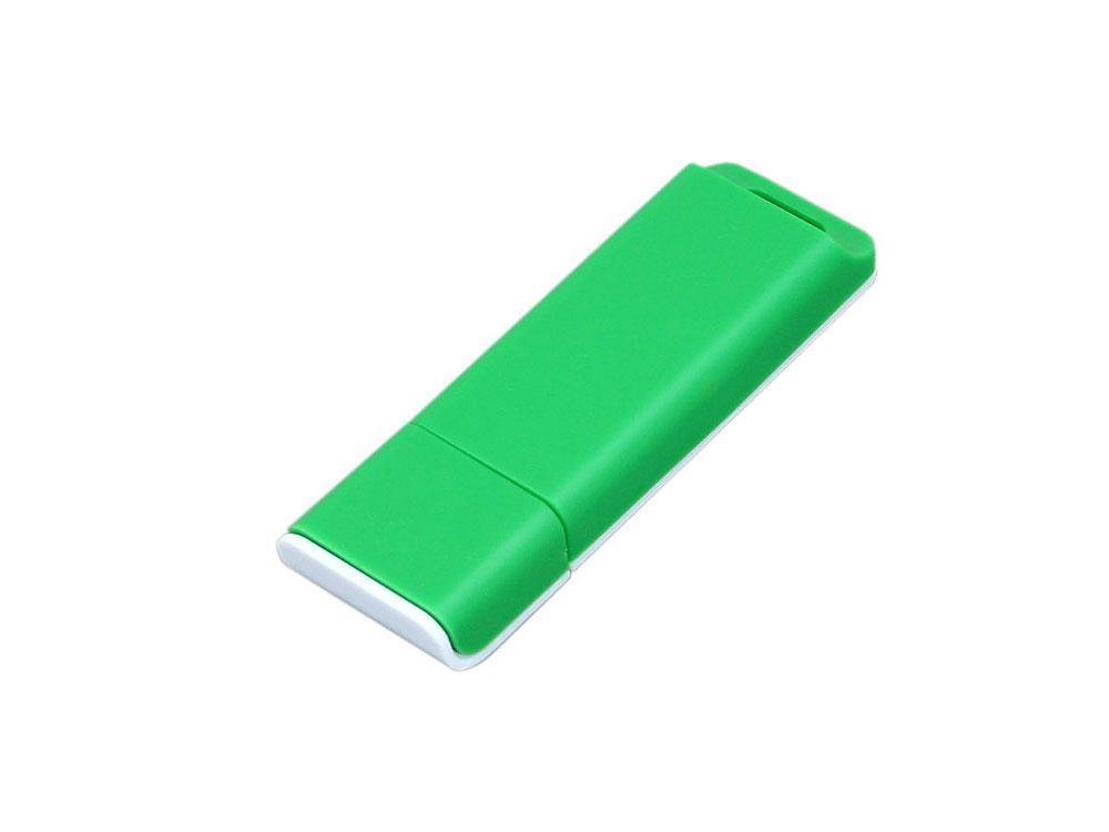 Флешка прямоугольной формы, оригинальный дизайн, двухцветный корпус, 64 Гб, зеленый/белый (артикул 6013.64.03)