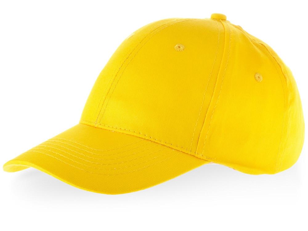 Бейсболка Watson, 6 панелей, желтый (артикул 38653100)
