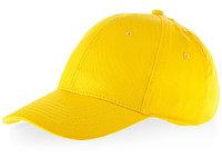 Бейсболка Watson, 6 панелей, желтый (артикул 38653100), фото 1