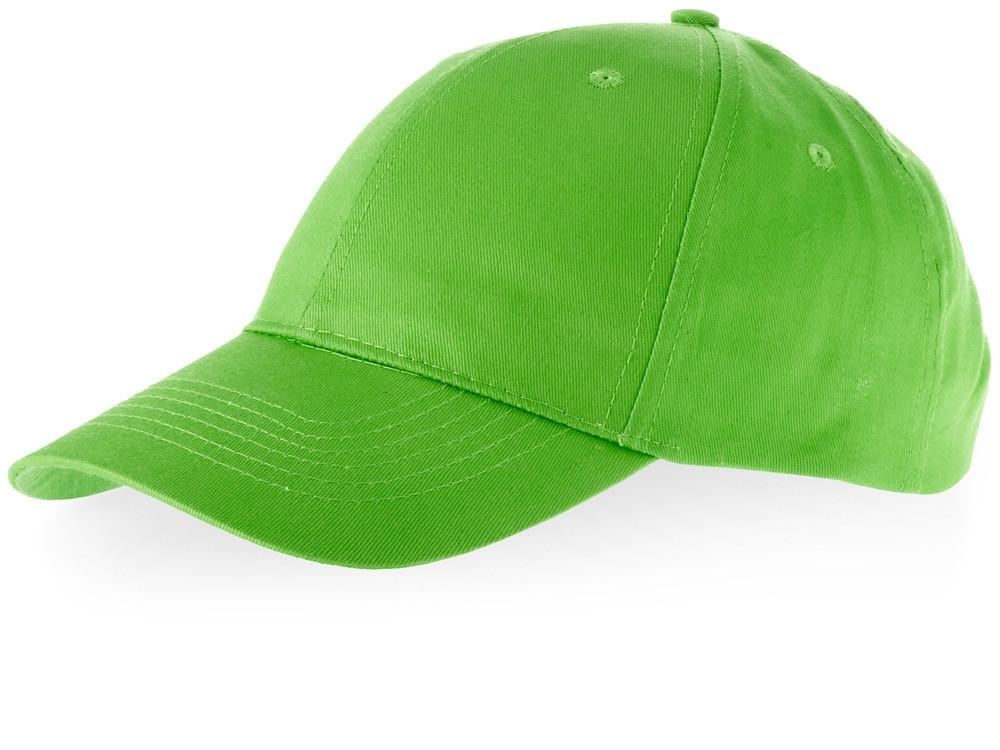 Бейсболка Watson, 6 панелей, зеленое яблоко (артикул 38653680)