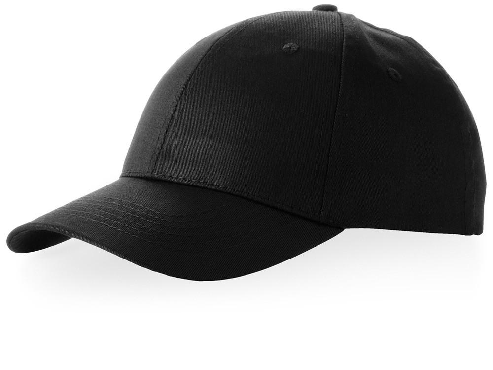 Бейсболка Watson, 6 панелей, черный (артикул 38653990)