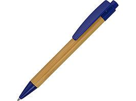 Ручка шариковая Borneo из бамбука, синий, черные чернила (артикул 10632201)