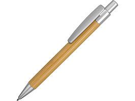 Ручка шариковая Borneo из бамбука, серебряный, черные чернила (артикул 10632202)