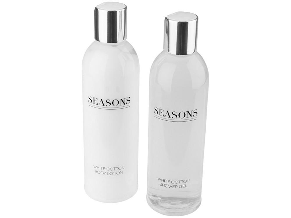 Банный набор Alden от Seasons, белый/серебристый (артикул 12610800)