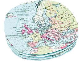 Набор из 4-х тарелок Карта мира (артикул 82173)