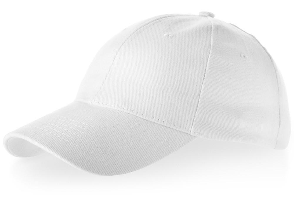 Бейсболка Bryson, 6 панелей, белый (артикул 38654010)