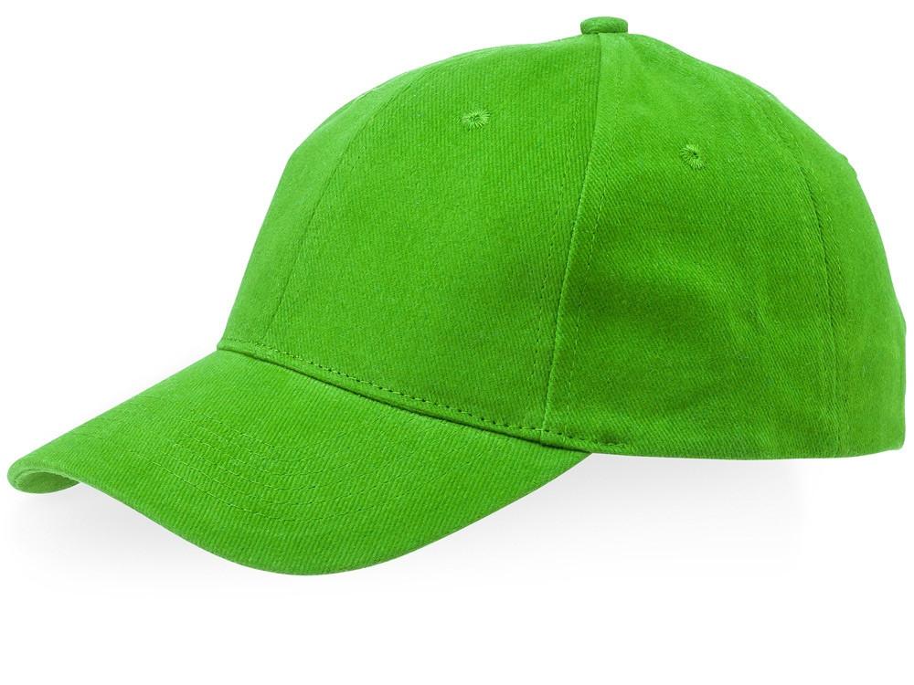 Бейсболка Bryson, 6 панелей, зеленое яблоко (артикул 38654680)