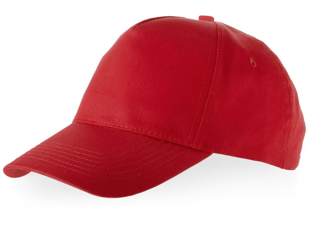 Бейсболка Brunswick, 5 панелей, красный (артикул 38655250)