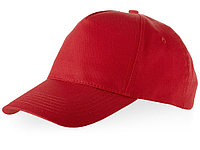 Бейсболка Brunswick, 5 панелей, красный (артикул 38655250), фото 1