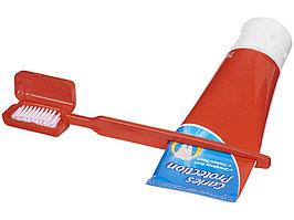 Зубная щетка Dana с выжимателем, красный (артикул 12613702)