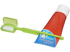 Зубная щетка Dana с выжимателем, зеленый (артикул 12613703)