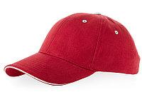 Бейсболка Brent типа сэндвич, 6 панелей, красный/белый (артикул 38656250), фото 1