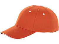 Бейсболка Brent, сэндвич, 6 панелей, оранжевый (артикул 38656330)