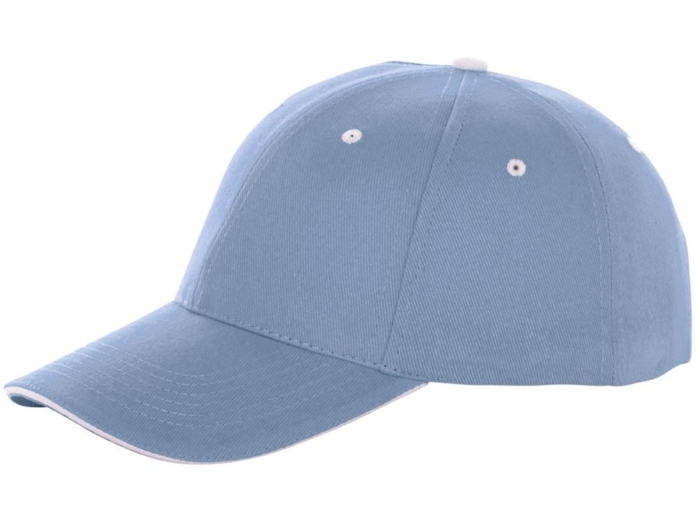 Бейсболка Brent, сэндвич, 6 панелей, светло-синий (артикул 38656400)