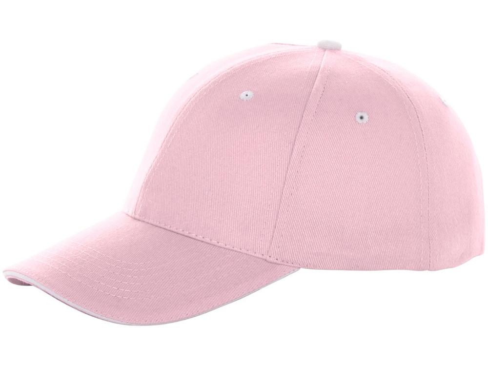 Бейсболка Brent, сэндвич, 6 панелей, розовый (артикул 38656230)