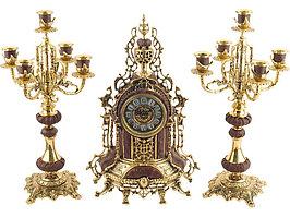 Композиция: интерьерные часы с подсвечниками Герцог Альба (артикул 17301)