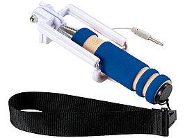 Мини селфи палка со шнурочком, ярко-синий (артикул 13422002)