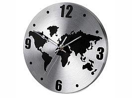 Часы настенные Торрокс, серебристый/черный (Р) (артикул 436003.15р)