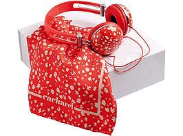 Набор Cacharel: дизайнерские наушники, шелковый платок (артикул 95402)