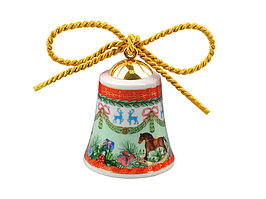 Новогодний колокольчик Versace Ретро, красный/зеленый (артикул 50558)