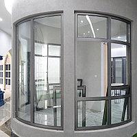 Алюминиевые окна из гнутого профиля (радиусные)
